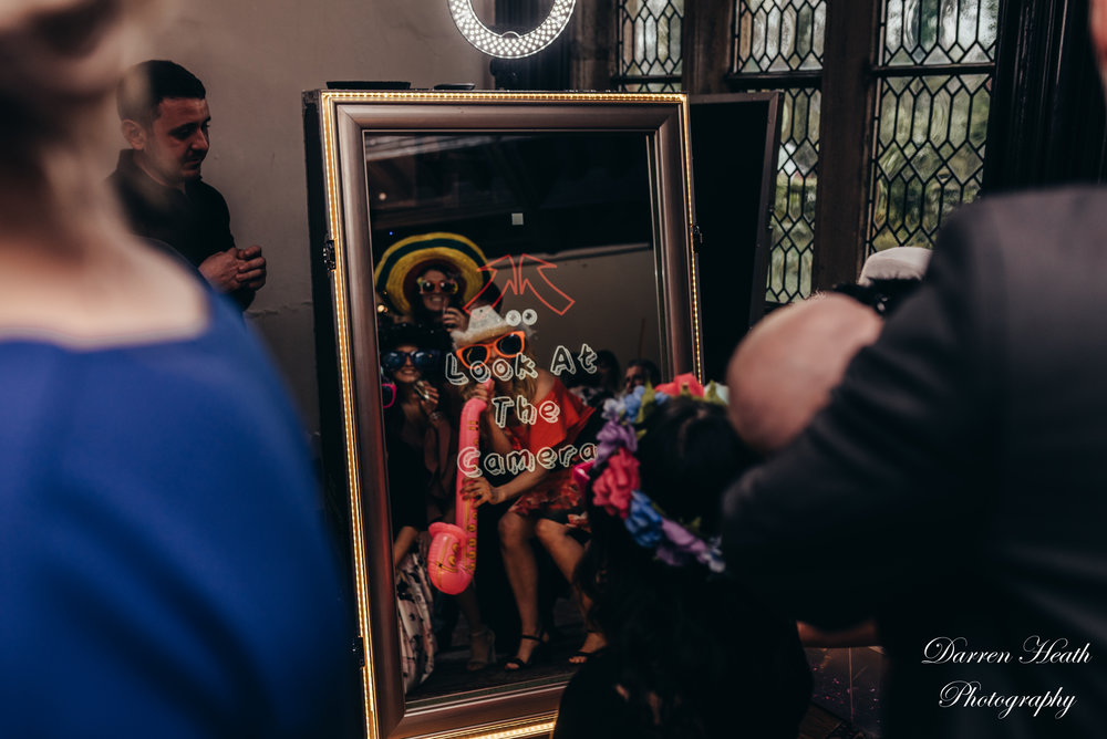 Guests enjoying a Magic Mirror