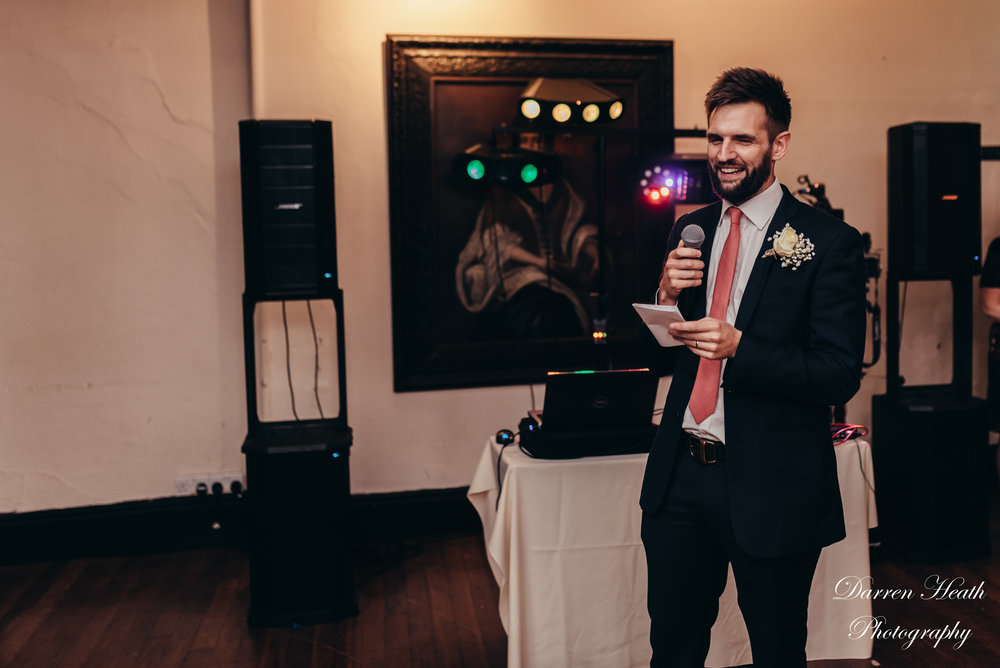 Bestman trying to embarrass the groom