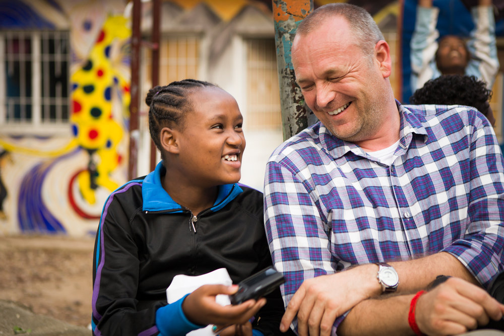 Working with young people at A-Hope, Ethiopia