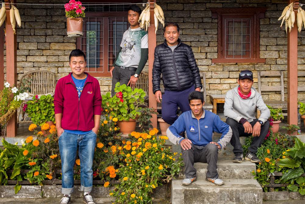Sherpas Kaji, Dalman, Ang, Nima and Pasan (Leica M, 50mm, 1/90, f/8, ISO200)
