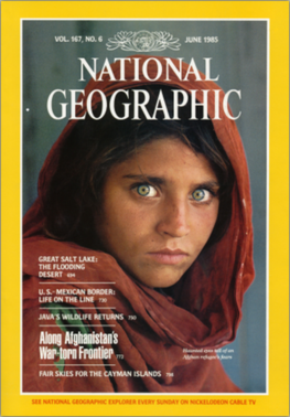 'Afghan Girl' National Geographic Cover