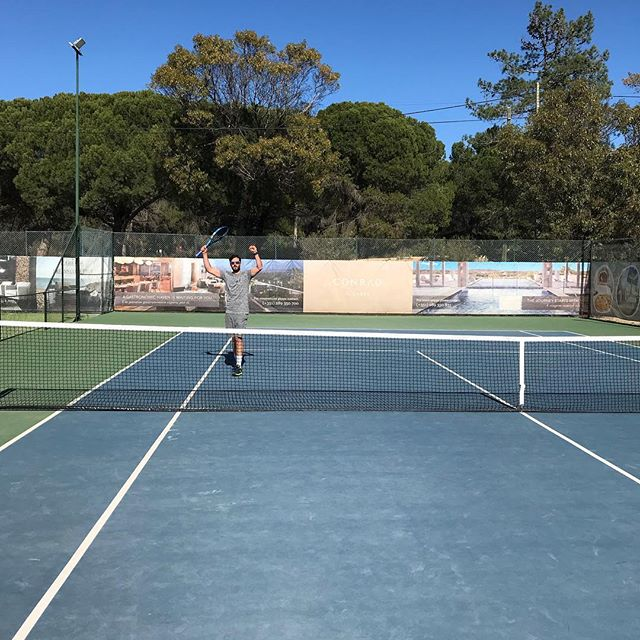 We're back!!!!! #courtfitontour3 #tennis #holiday #portugal #algarve #babolat #fitness #getfit #cardio #sunshine #wintersun