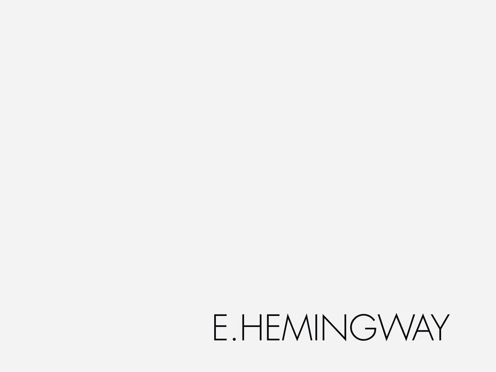 E.HEMINGWAY  is a lifestyle fashion brand.  It can be a very exclusive club, or a boutique hotel chain.  The concept can exist in the Caribbean, the French Riviera, the Greek Islands, or Polynesia.  E.HEMINGWAY is a trendy café, a bar, a restaurant with an art gallery, a record label producing jazz, chill out, bossa nova; a cigar smoking room, where friends meet for conversation about arts, politics, sports, business and lifestyle.  E.HEMINGWAY is a world of both mild and pleasurable outdoor activities, and adrenaline-driven extreme sports.  E.HEMINGWAY means contact with nature, the infinite, mystery and oneself.  E.HEMINGWAY is an adventure where children, women, young men, older men and women feel alive and aware of their senses.  In this intense world Ernest's granddaughters were undisputed icons.  Nowadays, Dree Hemingway - Ernest's great-granddaughter – continues with the family traditions working for international design houses such as Gucci, Jean Paul Gautier, Valentino, H & M, Chanel, Paco Rabanne and in Argentina curiously for A.Y. Not Dead collection 2011.