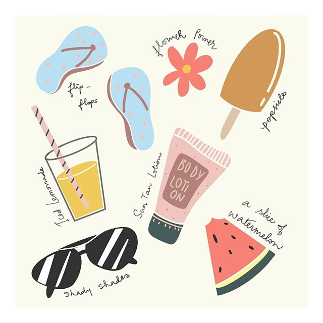 With the days getting longer and drinks colder, it's starting to feel a lot like Summer ☀ We've got our essentials down, have you? Illustration by: @hued.spirit __________  #homes #summer #summeressentials #sunscreen #sunglasses #watermelon #flipflops #beach #vibe #mocktail #checklist #selflove #decor #interiordesign #homedecor #homeinteriors #bangalore #luxury #interiordecor #mood #design #style #architecture #interior #interiordesigner #purespaces #iginteriors #tuesdaythoughts