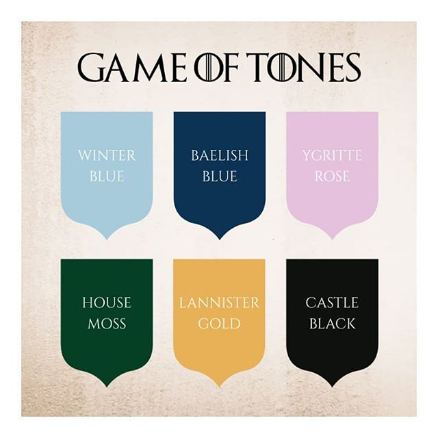 Game Of Tones now available at our PureSpaces HQ 😉 - We've got that #GOT fever and can't wait for the last season to air tomorrow! __________  #saturdaythoughts #gameofthrones #colours #shades #colourpalette #ironthrone #westeros #forthethrone #aryastark #khaleesi #sansastark #jonsnow #whitewalkers #bangalore #bangaloreinteriors #interiordecor #summer #iginteriors #purespaces #hues #architecture #archilovers #love #interiordesigner #mood #decor #interior #design #gameofthronesseason8