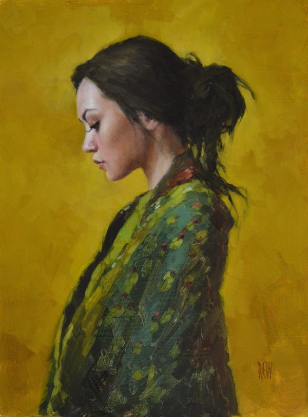 SPA 2017 Exhibition, Harvest Gold (Harriet)  30 x 40 cm Oil on linen Not for sale