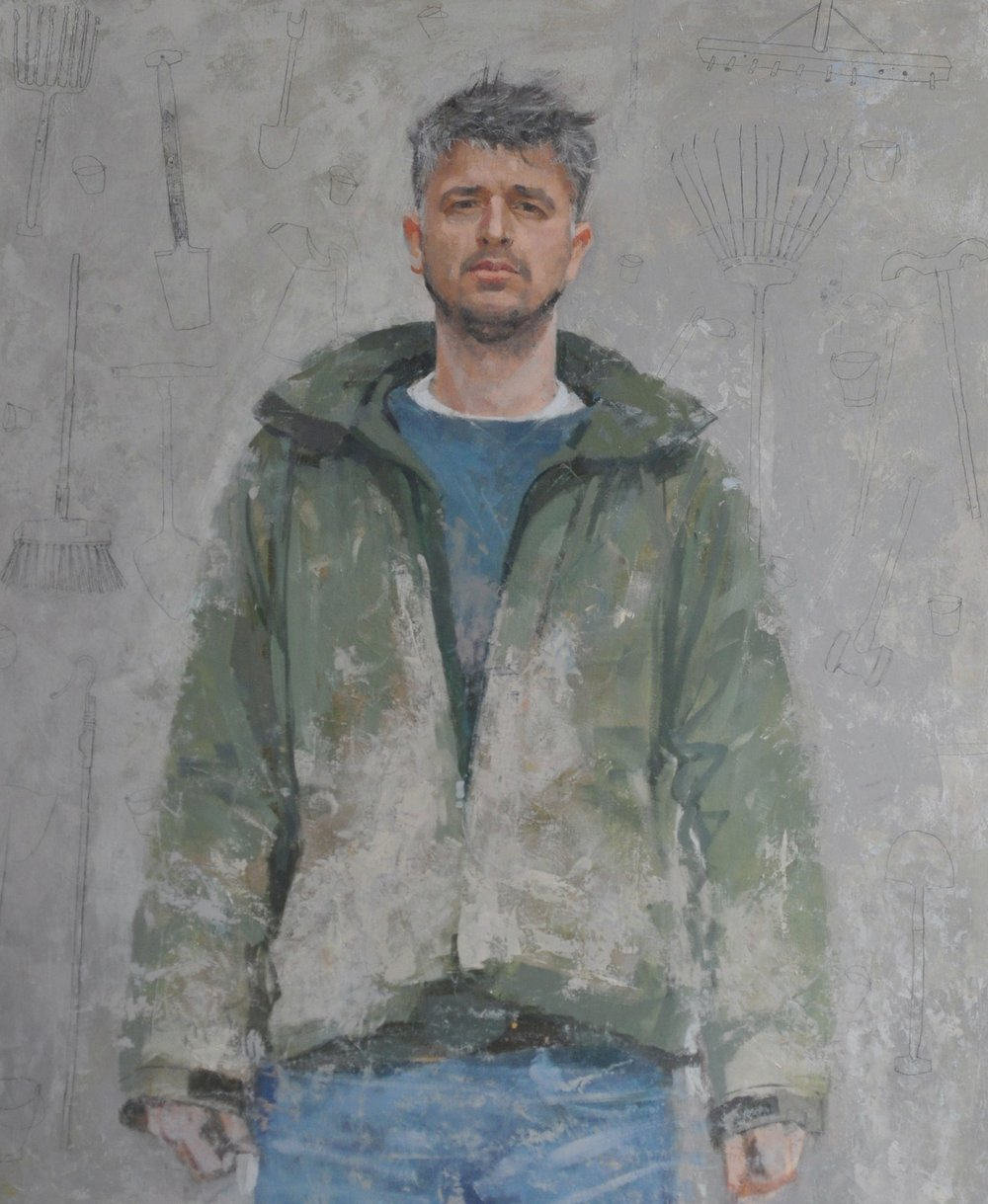 SPA 2017 Exhibition, Jonah of Kittyfield Farm, 96 x 106 cm (framed), Oil on board