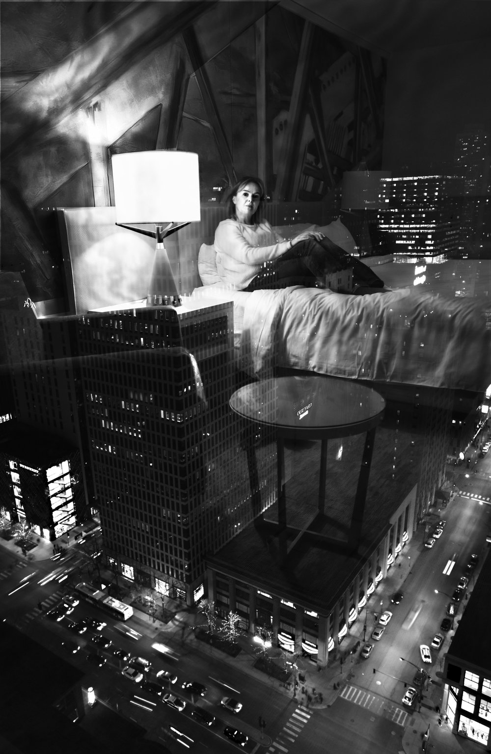 SPA 2017 Exhibition: Lonely in Chicago ,   34 x 43 cm (framed)  Digital image printed on Canson Baryta paper  £140