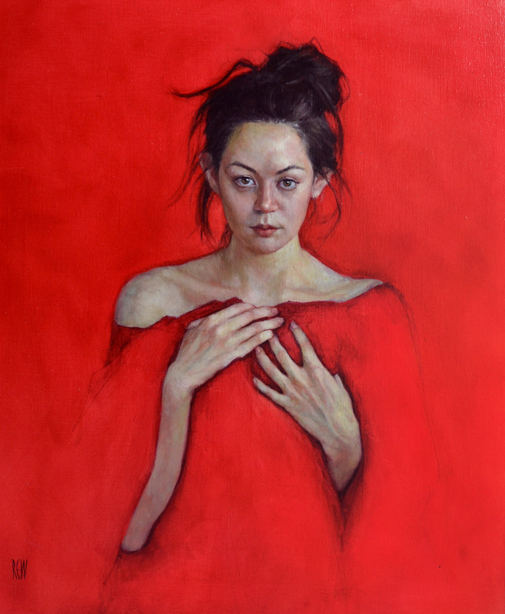 Crimson Heart, Oil on linen,  50x60cm