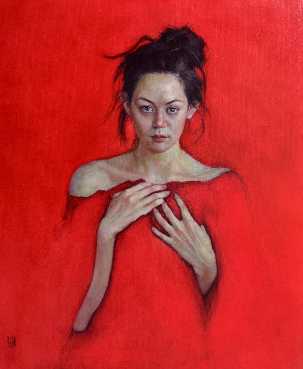 Crimson Heart,Oil on linen, 50x60cm