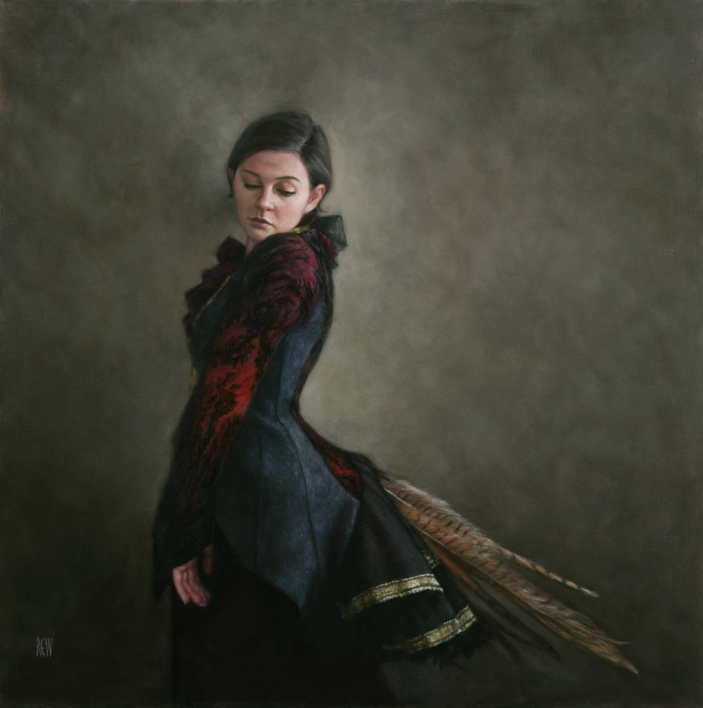 Tailfeathers, Oil on linen,  80x80cm