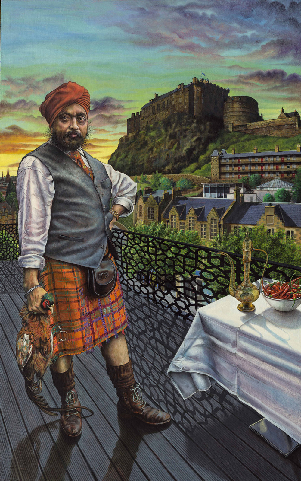 Mark Mulholland, Portrait of Tony Singh MBE