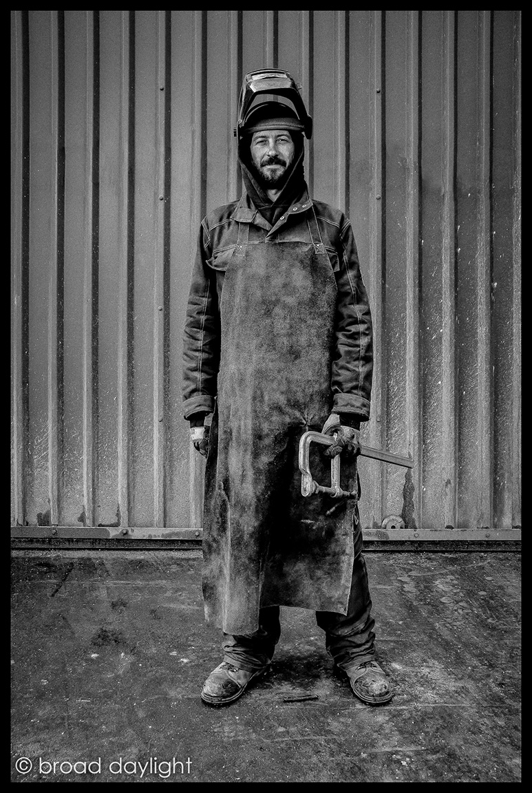 SPA 2017 Exhibition,   Andy, metal worker at Black Isle Bronze, Nairn, 44.2 x 54.4 cm (framed), Digital / giclée archival quality print, £275