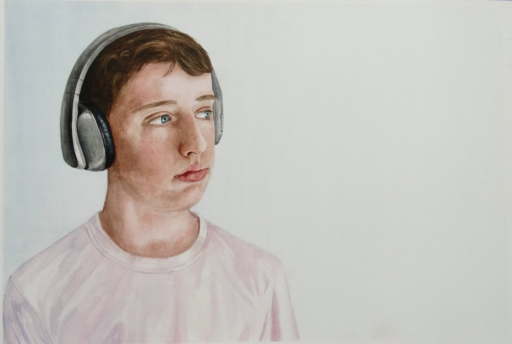 SPA Young Fine Artist, Eve Woehrling, Portrait of Saul