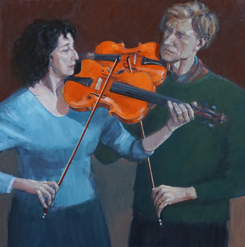 SPA 2018 Kenneth Blues Wilson Duet. Christine and Donald Smith Oil/canvas 108 x 108 £10,000 All rights reserved.