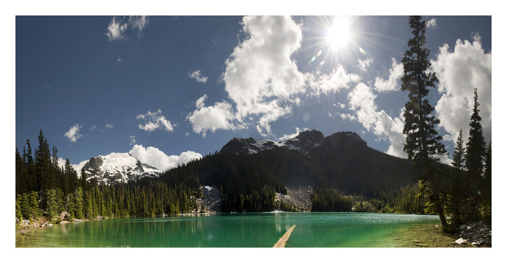 Joffre Lake Panorama  33 x 14 Photo 2014 250