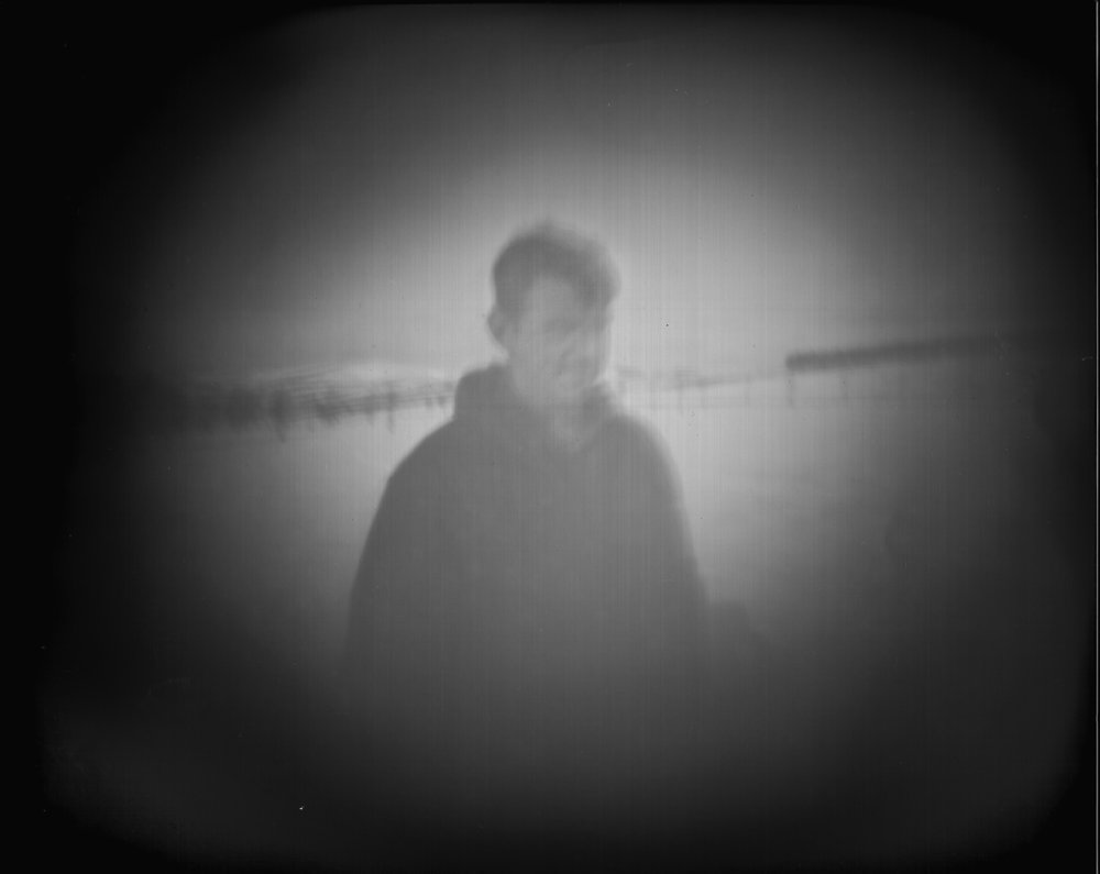 HARRIET SELKA 'PINHOLE PORTRAIT DURING THE BEAST FROM THE EAST'