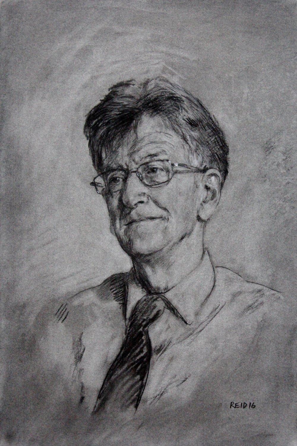 'Portrait study of Dr Richard Kimberlin OBE