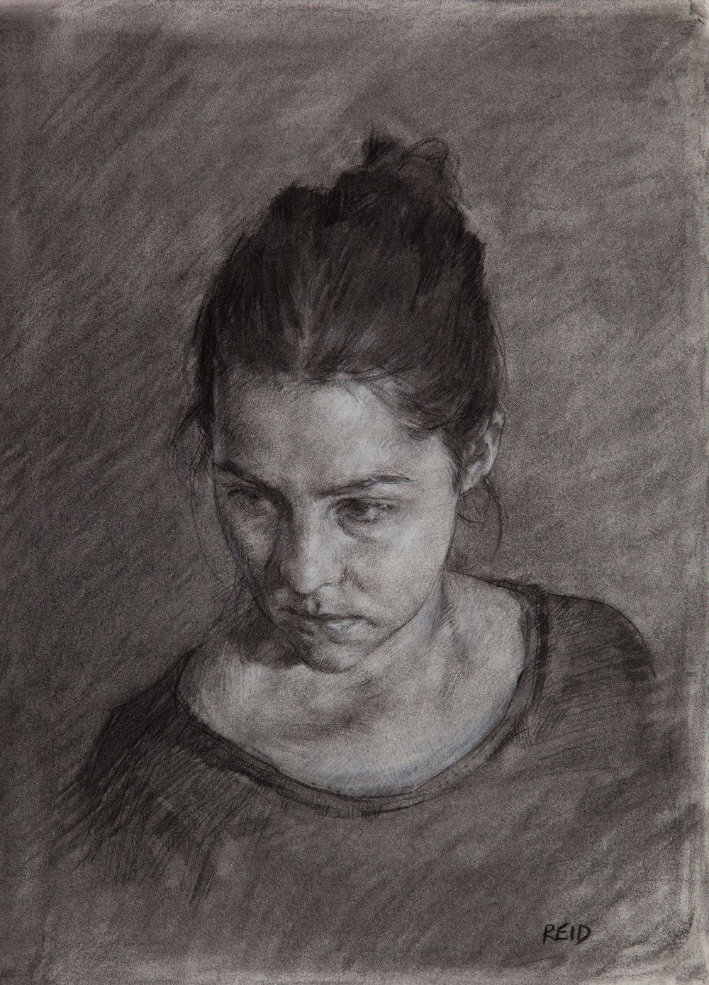 Heather Portrait Study, 2015, charcoal, 35.5 x 25.5 cms (2)