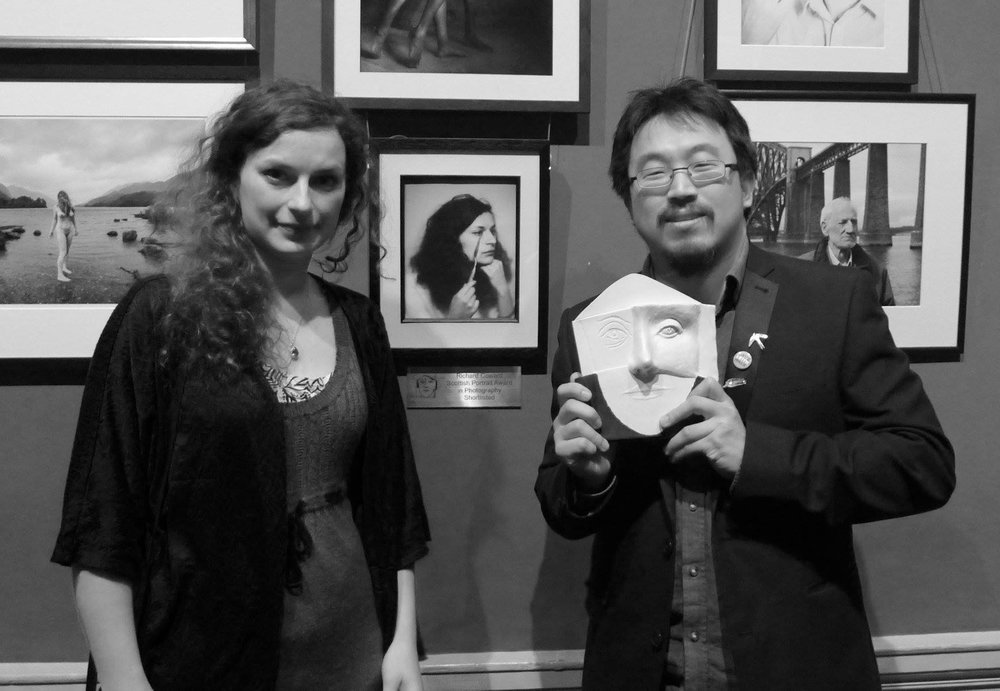 Winner of the Richard Coward SPA in Photography, Lucas Chi-Peng Kao (right) with Mira Knoche, the subject of his work.