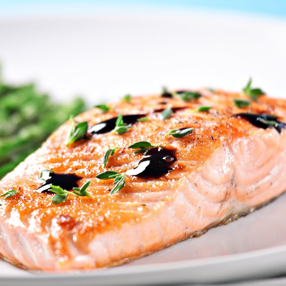 Balsamic Grilled Salmon -