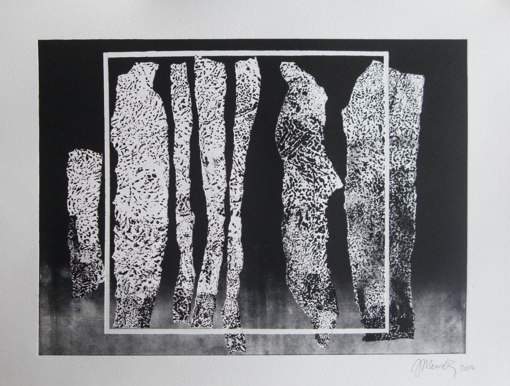 Forms on black 21 (32cm x 26 cm)