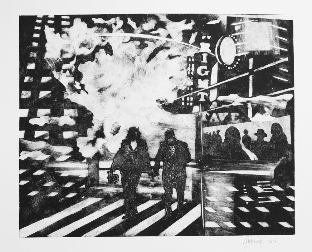 N.Y. Timesquare  (53 cm x 43)
