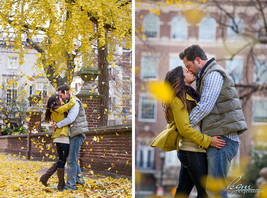 Washington Square Philadelphia Engagement