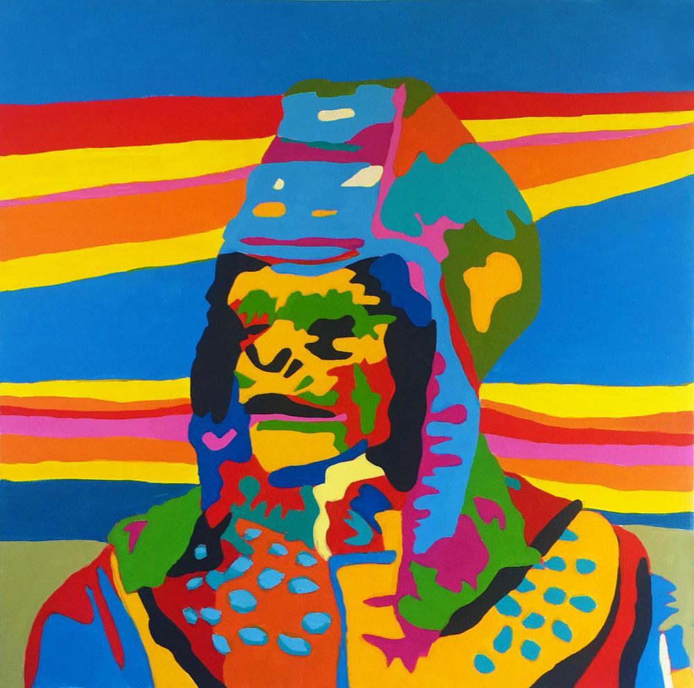 Urko Considers a Coup D'etat 24x24 Acrylic On Canvas