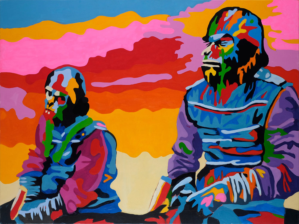 Magnificent Brutes  30x40 inches Acrylic on canvas