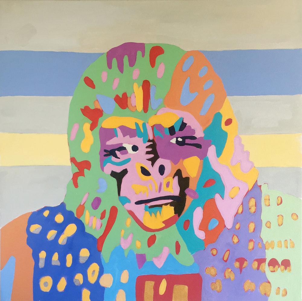 Urko On Date Night 24x24 Acrylic On Canvas