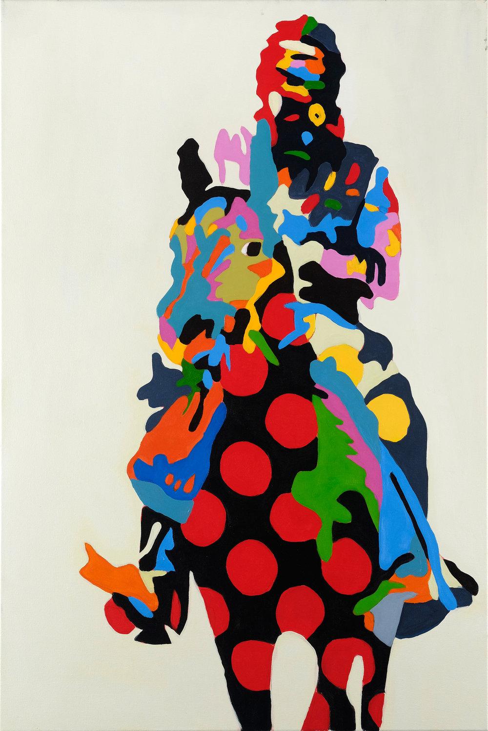 APE CAVALRY 24x30 Acrylic On Canvas