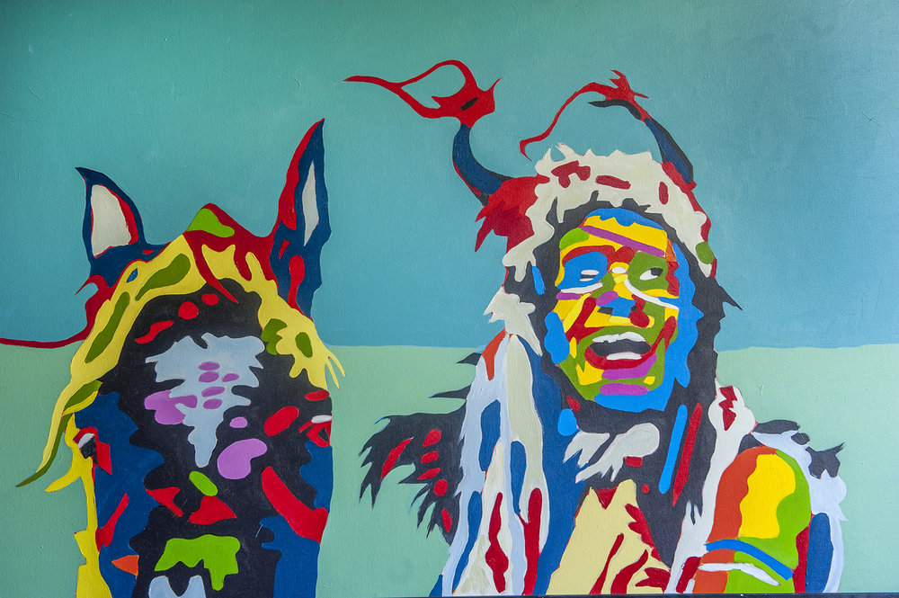 Alex Cord as Grayeagle   24x36 inches Acrylic on canvas