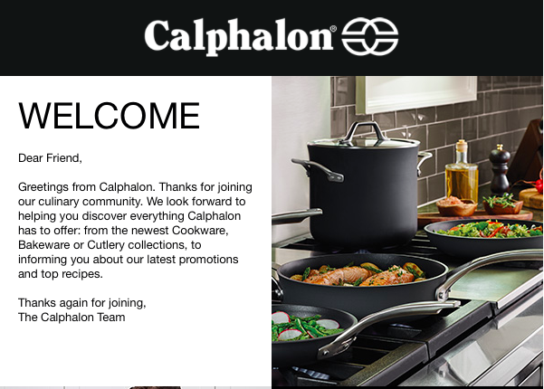 Calphalon Welcome.png