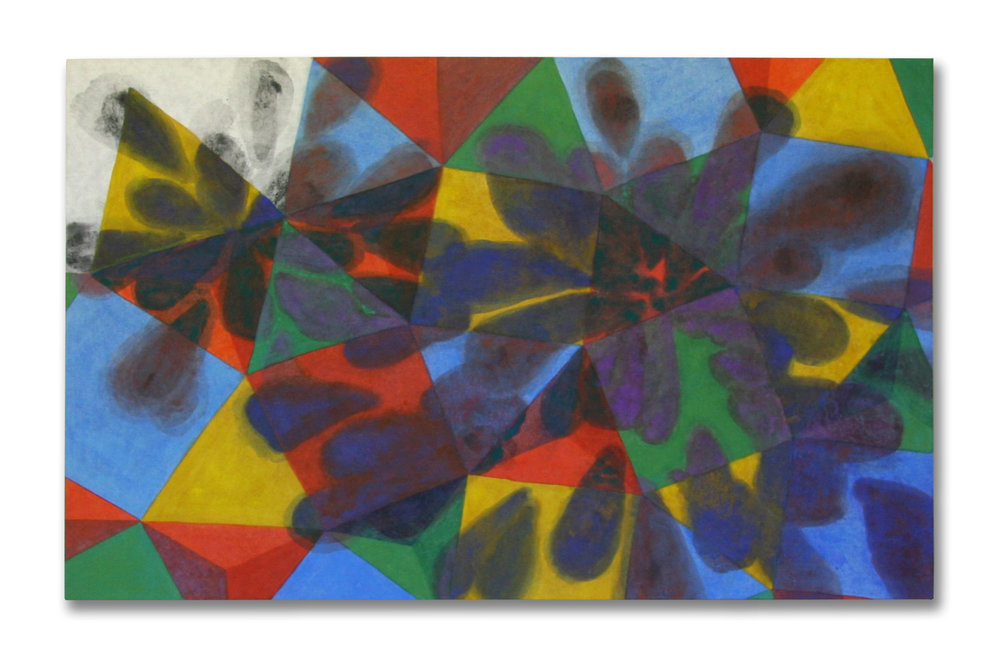 Impressions  pigment in size, Japanese paper on panel  120 x 80 cms