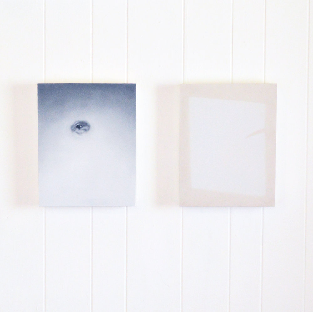 Untitled (Grey) & Untitled (Beige) Install