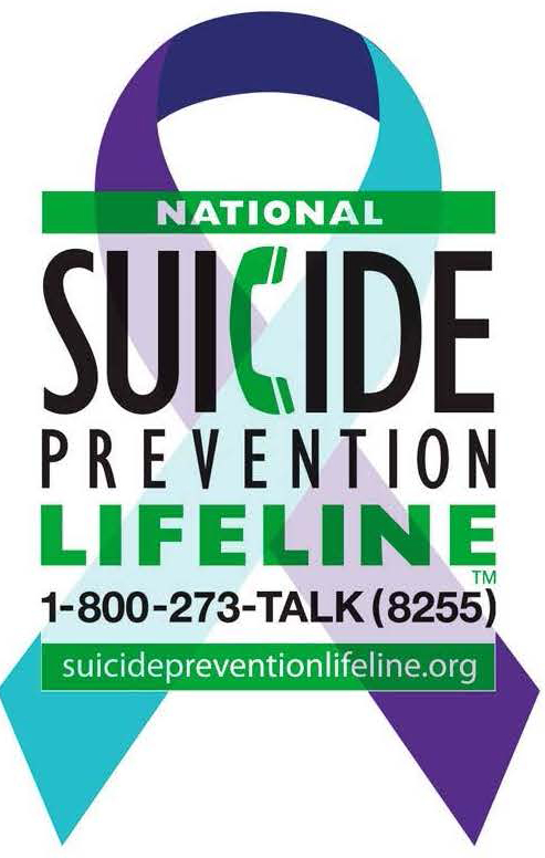 SUICIDE HOTLINE    - Call 1-800-273-8255Available 24 hours every dayWe can all help prevent suicide. The Lifeline provides 24/7, free and confidential support for people in distress, prevention and crisis resources for you or your loved ones, and best practices for professionals.https://suicidepreventionlifeline.org