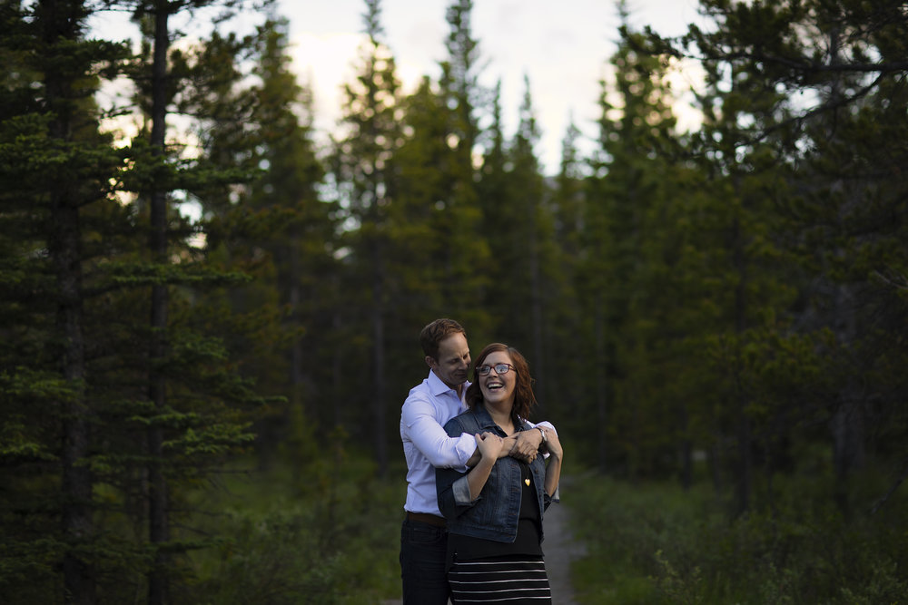 Engagement session with Dave & Katie in Kananaskis, Alberta.