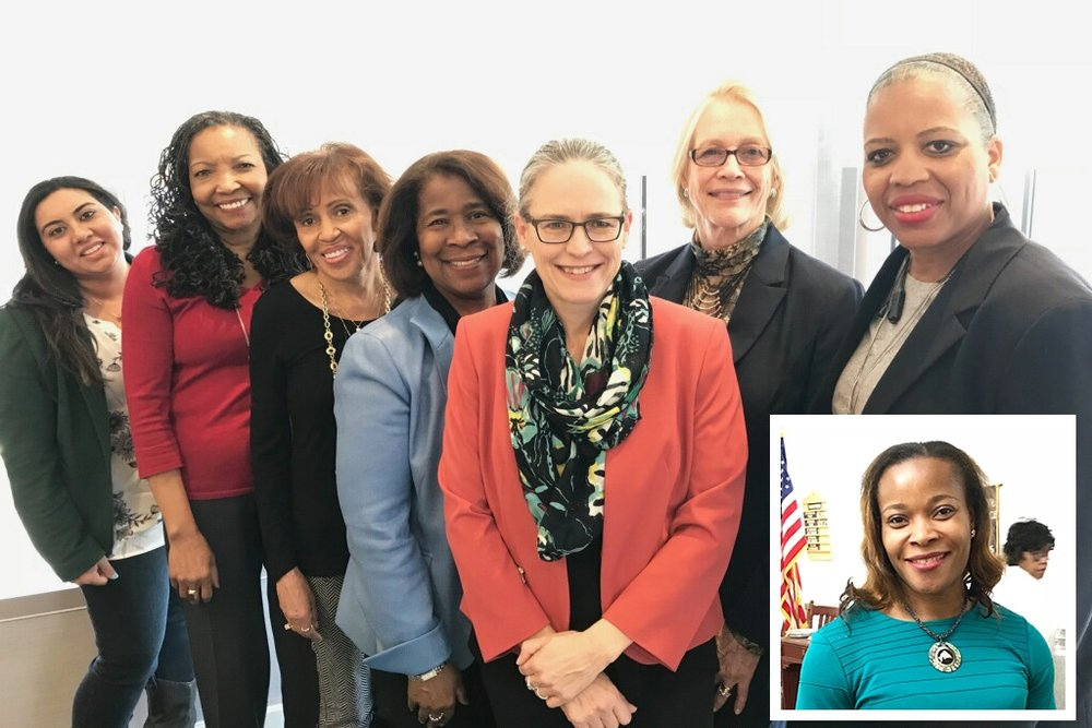 Women's Advisory Board - I am honored to have the support and advice of these women. Their activism, dedication and hardwork has been the backbone of progress for progressive causes across our community. (Names of those pictured:) Hattie Dorsey, Mtamanika Youngblood, Luevenia Holloway, Sally Rosser, Erica Pines, Ruth Mansogo (Not pictured:) Sharon Hill, Carolyn Young, Steffini Bethea