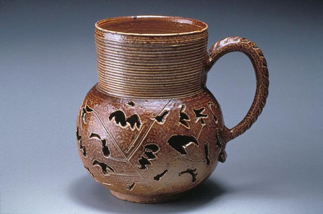 James Morley double-walled mug, c1700, Nottingham