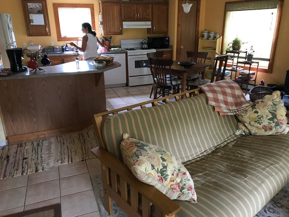 The Journey Inn Living Area with Kitchen View