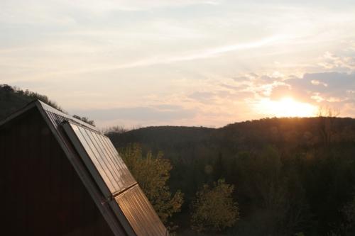 Solar hot water collectors for under-floor heat.