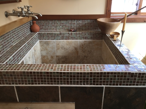 The Journey Inn View of Spa Tub with Tiles