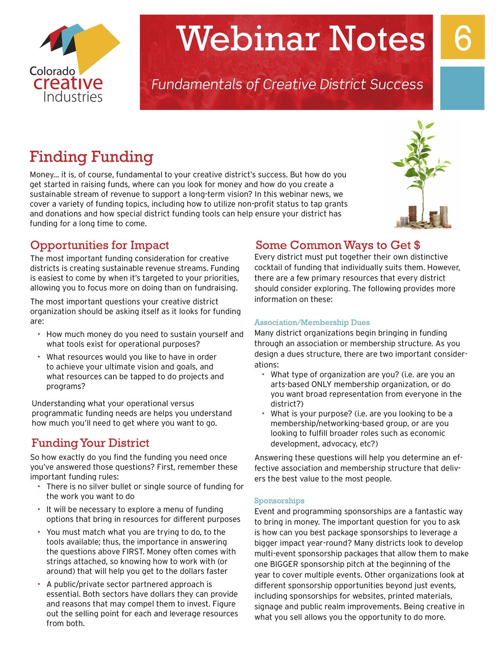 Finding Funding -