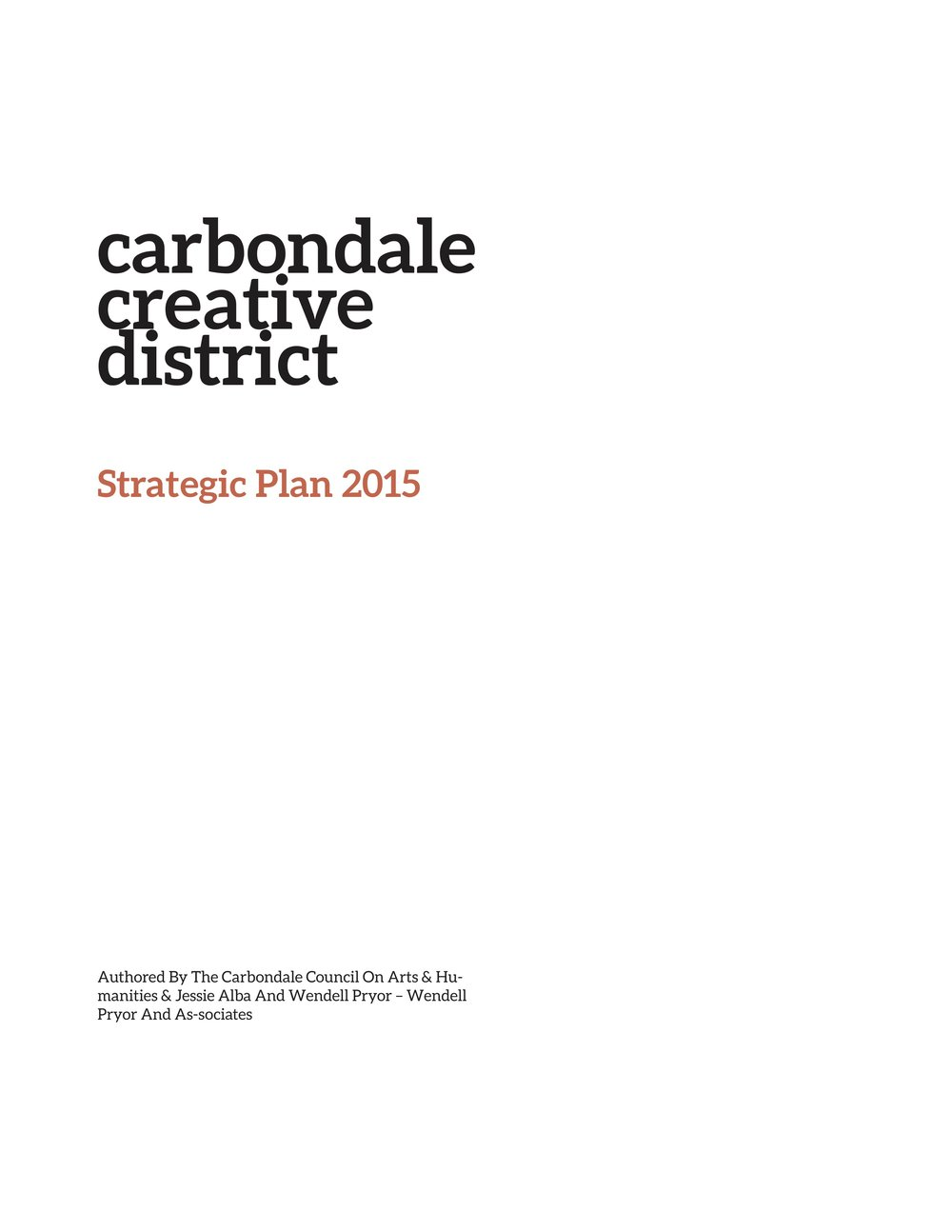 Carbondale Creative District Strategic Plan -