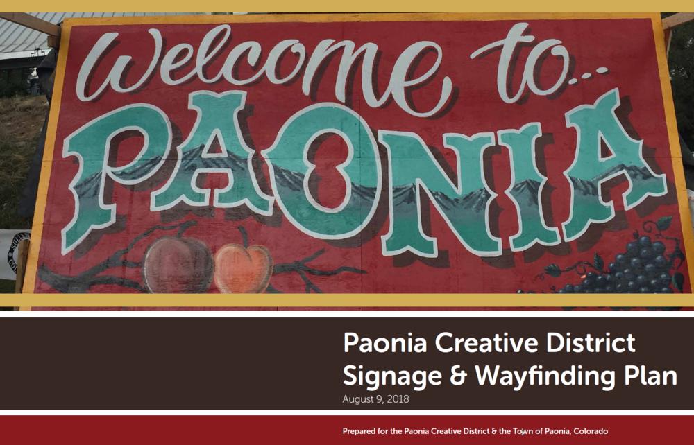 Paonia Creative District Signage & Wayfinding Plan -