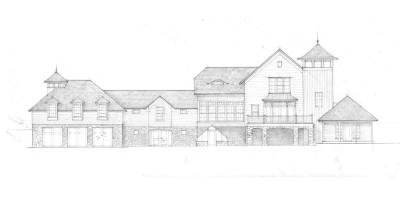 big house elevation rendering