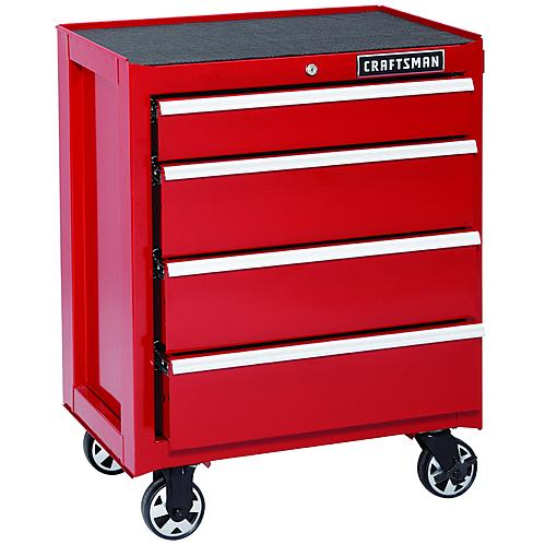 Sears Craftsman red tool chest with ball bearing drawers