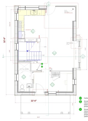Greenfield house plan first floor
