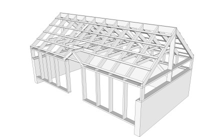 White cedar greenhouse